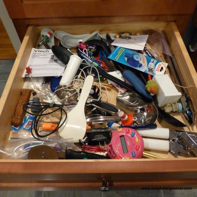Messy Kitchen Drawer: 3 Step Organizing Process • Helpful Organizer