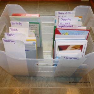 Organize greeting cards helpful organizer greeting cards m4hsunfo