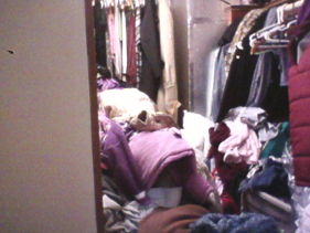 Organizing closet project - before