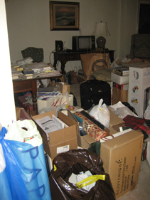 Clutter removal project - before