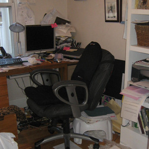 Client's unorganized office