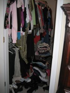 Overstuffed client closet