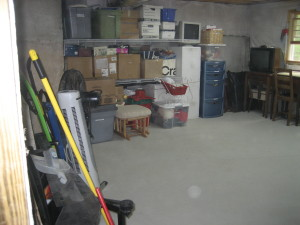 Basement organizing project - after