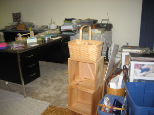 Craft area organizing project - before