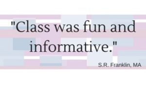 Quote from class attendee