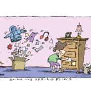 Spring fling = spring cleaning