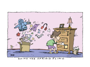 Spring fling = spring cleaning