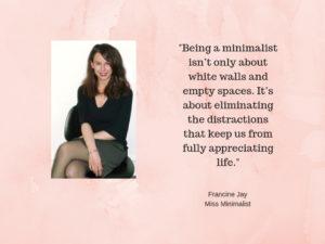 Miss Minimalist defines minimalism