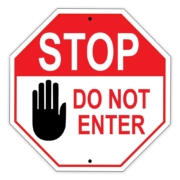 Stop - Do not enter sign