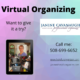 Offering virtual organizing