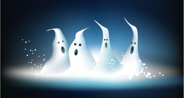 4 white ghosts