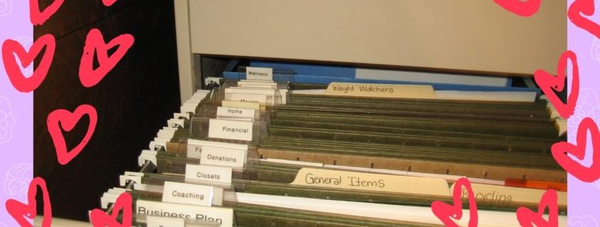 organized file drawer